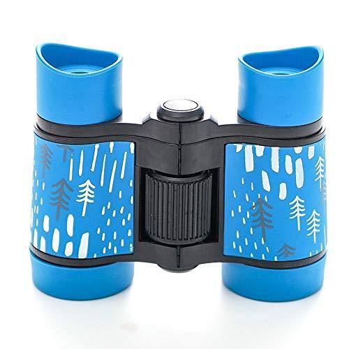 Tragbar Fernrohr Rutschfestes Fernglas mit Gummigriff für Kinderteleskope HD Optisches Teleskop (Blau)