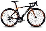 AYHa 20 Velocidad de bicicleta de carretera, de aluminio ligero de camino de la bicicleta, de liberación rápida Bicicleta de carreras, Perfecto para carretera o suciedad Touring Trail,naranja,Marco d
