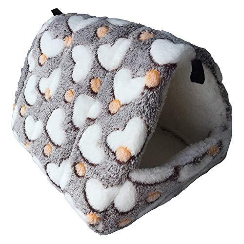 WOIA Saco de Dormir cálido para Mascotas Nido de algodón Nido de algodón en Invierno Se Espesa el Saco de Felpa, Café, L