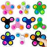 SCIONE 10 Pack Fidget Spinners Push Bubble Pop Simple Fidget Toys for Kids Adults, Pop Par...
