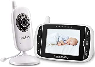 HelloBaby Video Baby Monitor 3.2'' LCD Display Screen with Camera, Infrared Night Vision, Two Way Talk, VOX Mode, Built-in...