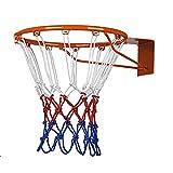 Ndier Red Canasta de Baloncesto, Anillo a Red Canasta de Nailon para Baloncesto Rojo Blanco y Azul, 2pcs