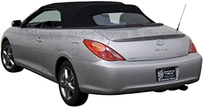 Sierra Auto Tops Convertible Soft Top Replacement, compatible with Toyota Solara 2004-2009, w/Heated Glass Window, Stayfast Canvas, Black