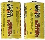 School Smart D Alkaline Batteries - Pack of 2 - 595612