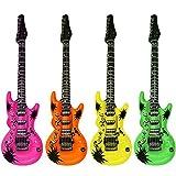 Toyland 12 x 106cm Couleurs Assorties gonflables Guitares pour Fêtes d'anniversaire, Barbecues
