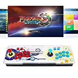 VrLunsur SeeKool Pandora Box 3D+ WiFi con 8000 Juegos Retro Consola, 8 Botones Maquina recreativa Arcade Video, Soporte de Tarjeta TF+USB DIS ,para PC/ Ordenador portátil/ PS3/ TV (VGA/HDMI/USB)