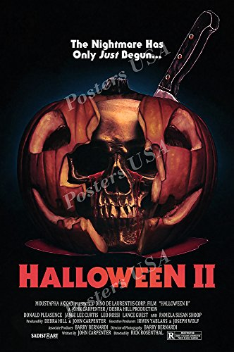 Posters USA Halloween II GLOSSY FINISH Movie Poster - FIL900 (24' x 36' (61cm x 91.5cm))
