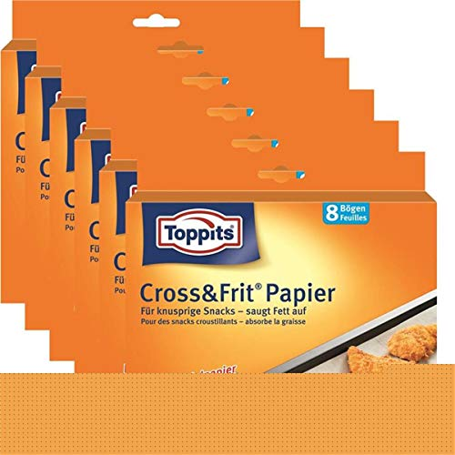 Toppits® Cross & Frit Papier Back-Spezialpapier Snackpapier 8 Bögen (6er Pack)