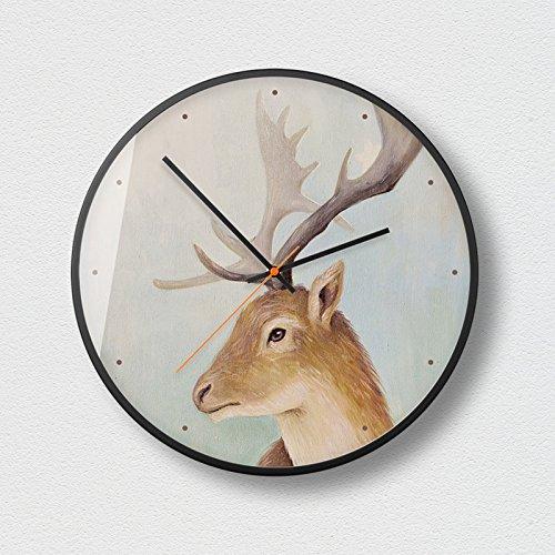 WuuLii Decor Horloge Murale - Horloge Murale Décor - Horloge Décorative pour Salon, Chambre Horloge Murale Silencieuse Non-Coutil Art Petit Frais Créatif, 14 Pouces, 03