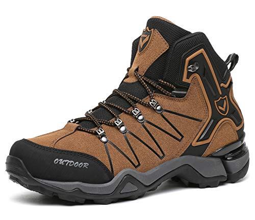 Kinder Wanderschuhe Jungen Wanderstiefel Mädchen Outdoor Trekking Schuhe rutschfeste Mid Trekkingstiefel für Unisex Herren Damen Braun EU39 - Etikett 40