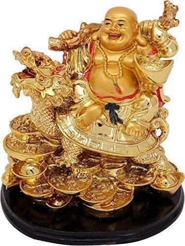 Modfash GJ Grand JHAIJI Buda riendo sobre dragón para dinero y salud y buena suerte