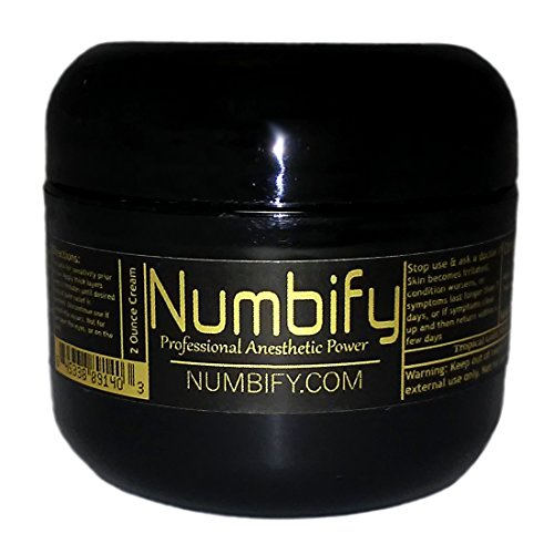 Numb-ify Strong Numbing Lidocaine Anesthetic Cream/Best for Pain Relief – Numb (2 Ounce)