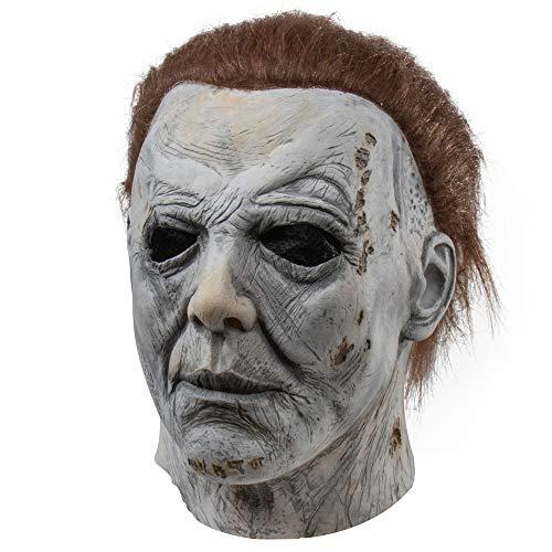 Máscara de Cosplay de Halloween, máscara de miedo malvada, accesorios de fiesta de disfraces de Halloween, máscara espeluznante - Michael Myers-non Luminous