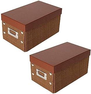 MU Grand ensemble de 2 boîtes de rangement avec couvercle, boîte de rangement multifonctionnelle, capacité de charge élevé...
