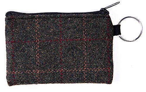 Heritage Traditions Tweed Colour Small Coin Card Travel Purse (Green Box)