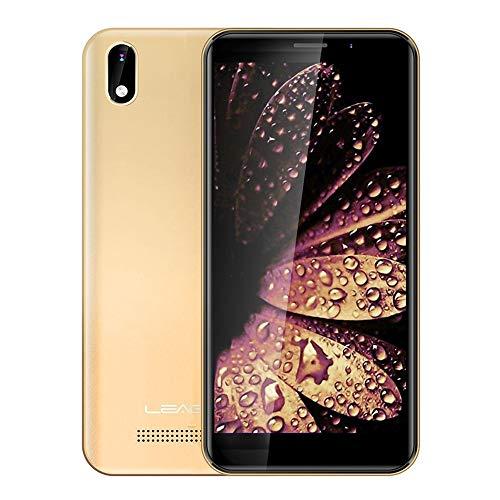Teléfonos móviles desbloqueados y sin SIM Z10, 1 GB + 8 GB, 5,0 Pulgadas Android 8.0 GO MTK6580M Quad Core a 1,3 GHz hasta, de Red: 3G, Dual SIM (Color : Gold)
