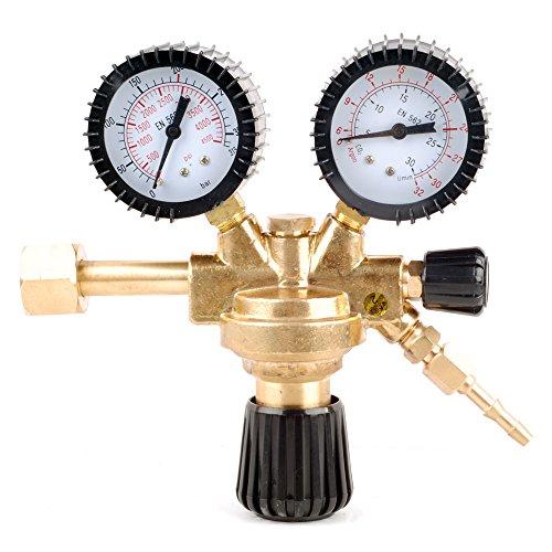Gas Druckminderer Absperrventil Argon CO2 MIG MAG WIG Schutzgas Schweißgerät