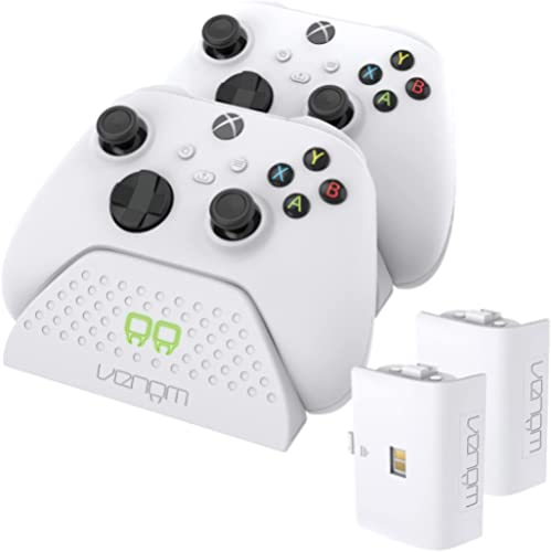 Venom Xbox station de charge double avec 2 x batteries rechargeables - blanc (Xbox Series X / Xbox Series S)