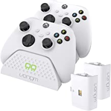 Venom Xbox dubbel laadstation met 2 x oplaadbare batterijpakketten - wit (Xbox Series X / Xbox Series S)