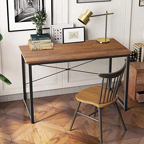 SINKCOL Computer Desk 47 inch Home Office Writing Study Desk Industrial Style Laptop Table Desk product image