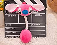 漫画ペット製品ぬいぐるみ犬のおもちゃペットの猫かわいい噛むロープ音のおもちゃ (Color : Red, Size : 31cm)