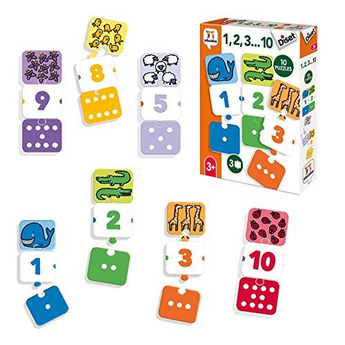Diset- 1, 2, 3… 10 Juego Educativo, Multicolor (68955)