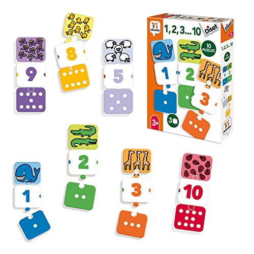 Diset- 1, 2, 3… 10 Juego Educativo, Multicolor (68955)