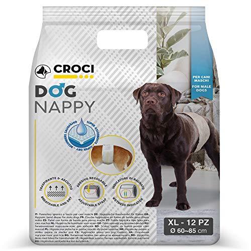 Croci Fascia Igienica Cani Maschi Dog Nappy 12 Pz XL