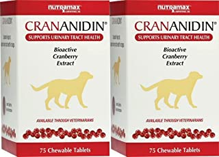Nutramax Crananidin Chewable Tablets for Dogs 150ct (2x75ct)