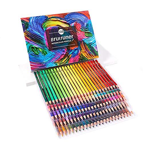 Lápices de Multicolor Únicos Forma Clásica Hexagonal, Un Set Ideal para Artistas, Adultos y Niños,120-color-water-soluble