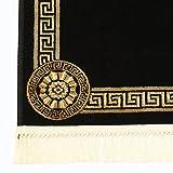 Meander Carpet 150x230 cm Oval Black K-Silk Meander Medusa Rug Carpet Versac