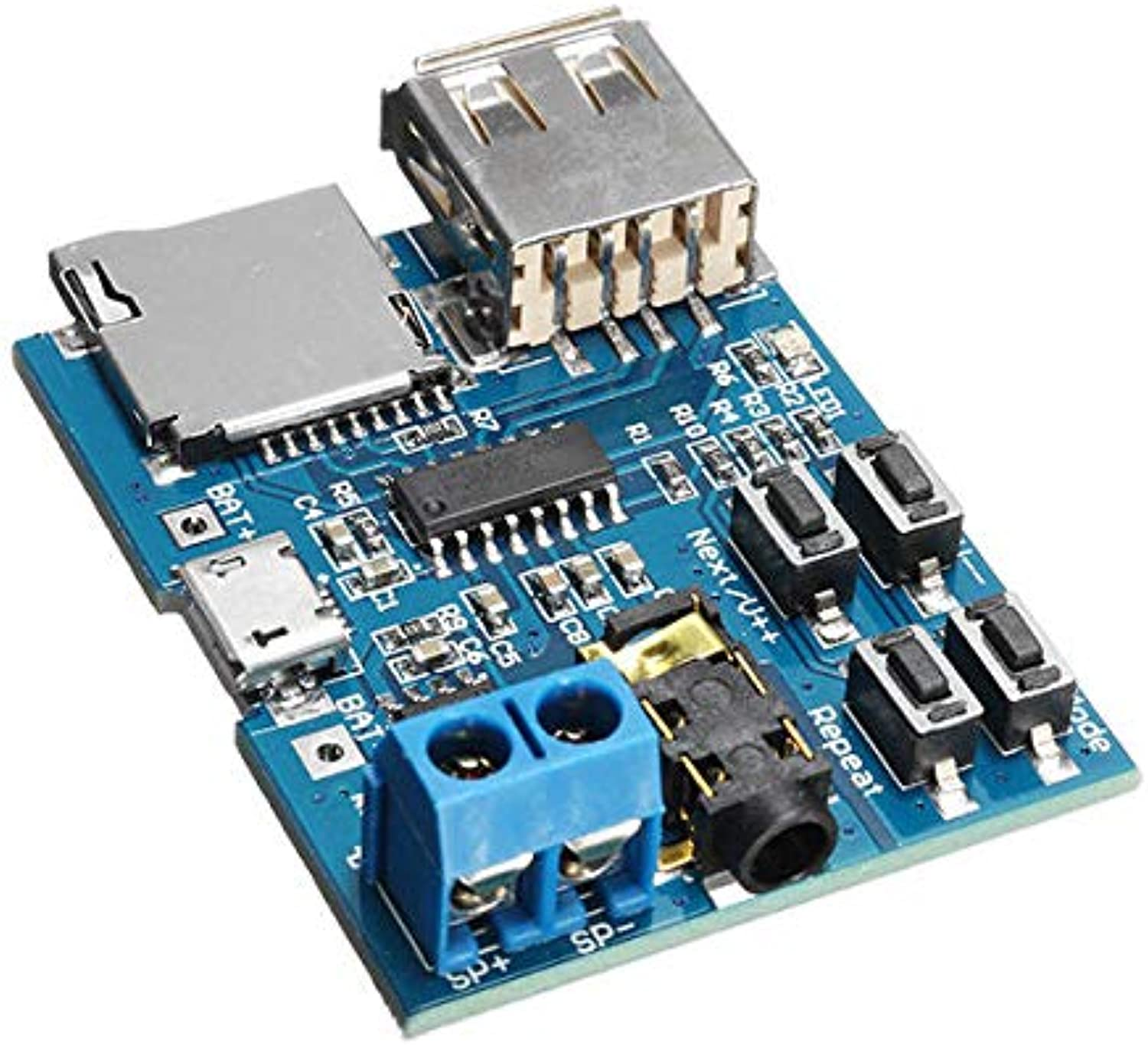 10Pcs MP3 Lossless Decoder Board with Power Amplifier Module Card Decoding Player  Arduino Compatible SCM & DIY Kits Module Board