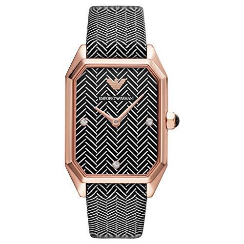Emporio Armani Reloj para Mujer de Cuarzo con Correa en Cuero Genuino AR11249