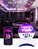 Star Projector Galaxy Projector, Skylight Projector with Bluetooth Speaker, Gaming Room Sky Light,Party Night Light Ambiance, Smart Music Star Lights with Kids Adults Gift, Nebular Ocean Wave