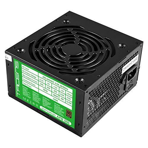 Tacens Anima APB550, Fuente PC 550W, ATX, 12V, PFC Activo, 80Plus Bronze, Negro