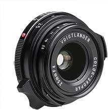 Voigtlander Color-Skopar 25mm f/4.0 Pancake Lens with Leica M Mount - Black