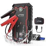 UTRAI Auto Starthilfe 12V 2000A 22000mAh Autobatterie Powerbank, Bis zu 8L Benzin, 7.5L Diesel Anlasser mit QC3.0, Dual USB, LED Taschenlampe Jstar One