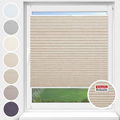 Schuette® Estor plisado sin agujeros ● Colección Dolomite : marrón claro (beige)...