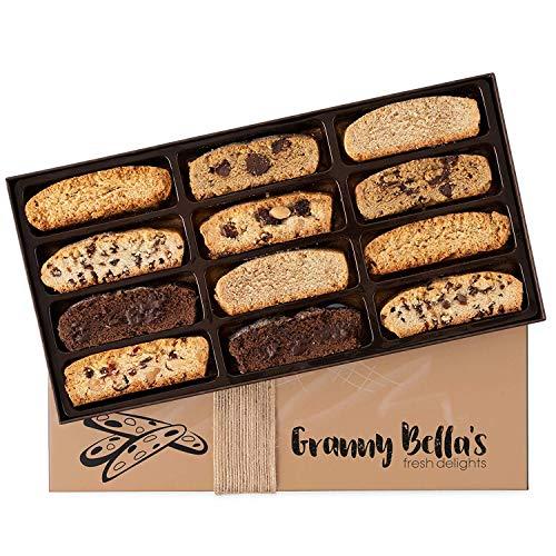 Granny Bella's Gourmet Kosher Purim Gift Baskets - Prime 12 Biscotti Italian Cookies Corporate...