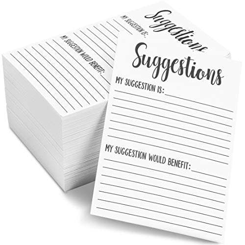 200 Pack Suggestion Cards for Customer Feedback in Bulk, 4x6 in.