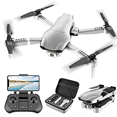 4DRC F3 GPS Drone with 4K Camera for Adults ,Foldable Drone with 5GHz FPV Live Video RC Quadcopter with Auto Return Home, Follow Me,Dual Cameras,Waypoints, Headless Mode, 2 Batteries and Carrying Case from shantoushixiaowangguoshangmaoyouxiangongsi