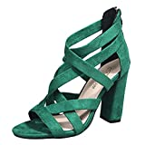 FAMOORE Womens Platform Sandals Women's Summer Fashion Bowknot Denim Comfortable Sandals And Slippers Green 9