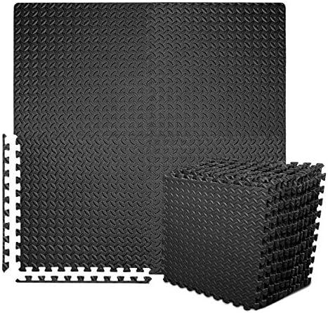 Puzzle Exercise Mat with 12 Tiles Interlocking Foam Gym Mats 24 x 24 EVA Foam Floor Tiles Protective product image
