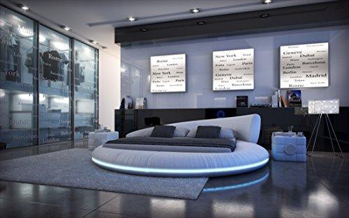 Sofa Dreams Compleet bed Mezzo LED met matras en lattenbodem 180 x 200 cm - 200 x 200 cm - 200 x 220 cm
