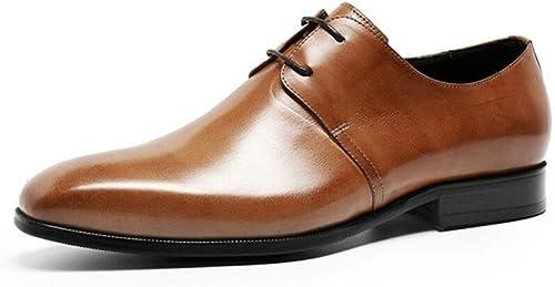 GDXH zapatos de Cuero para Hombre de la Boda Lace Up Brogues zapatos de Vestir Formales zapatos Formales
