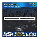Pavement Stencils - 4 inch - Straight LINE Stencil - 4' x 108' x 1/8' (128 mil) - Pro-Grade