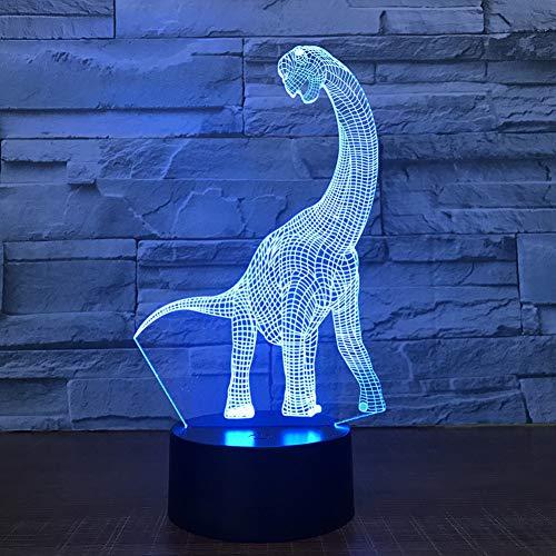 LLZGPZXYD 3D LED nachtlampje dinosaurus 3D LED-lamp 7 kleuren nachtlamp voor kinderen Touch LED USB tabel baby slaap nachtlicht kinderen verjaardagscadeau Touch.