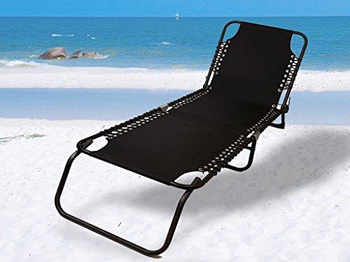 Generic YanHonguk150730-62 1yh2062yh Chaise longue inclinable Noir