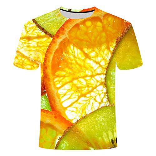 Fruit 3D Camisetas para Hombres y Mujeres Imprimir Verano Camisetas de Manga Corta Ropa Casual Tallas Grandes 6XL TXK11 XL No