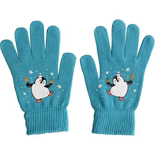 Die Geschenkewelt 49802 Zauber-Handschuh Pinguin, Baumwolle, Universalgröße, Blau